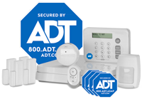 ADT home security equipment  - 15-piece system