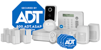 ADT home security equipment  - 11-piece system
